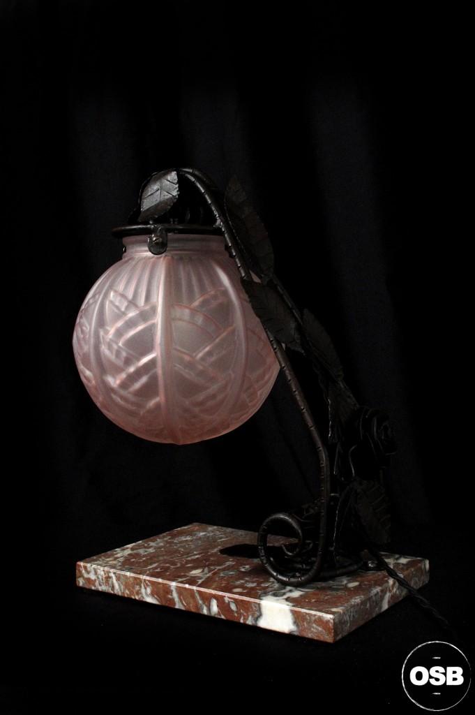 LAMPE ANCIENNE FER FORGE DEBUT XXEME 1920 1910 DECORATION LUMINAIRE ANCIEN OLD SCHOOL BAZAAR 4