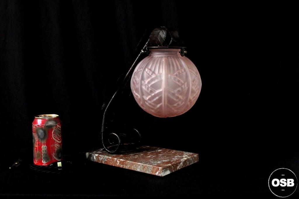 LAMPE ANCIENNE FER FORGE DEBUT XXEME 1920 1910 DECORATION LUMINAIRE ANCIEN OLD SCHOOL BAZAAR 8