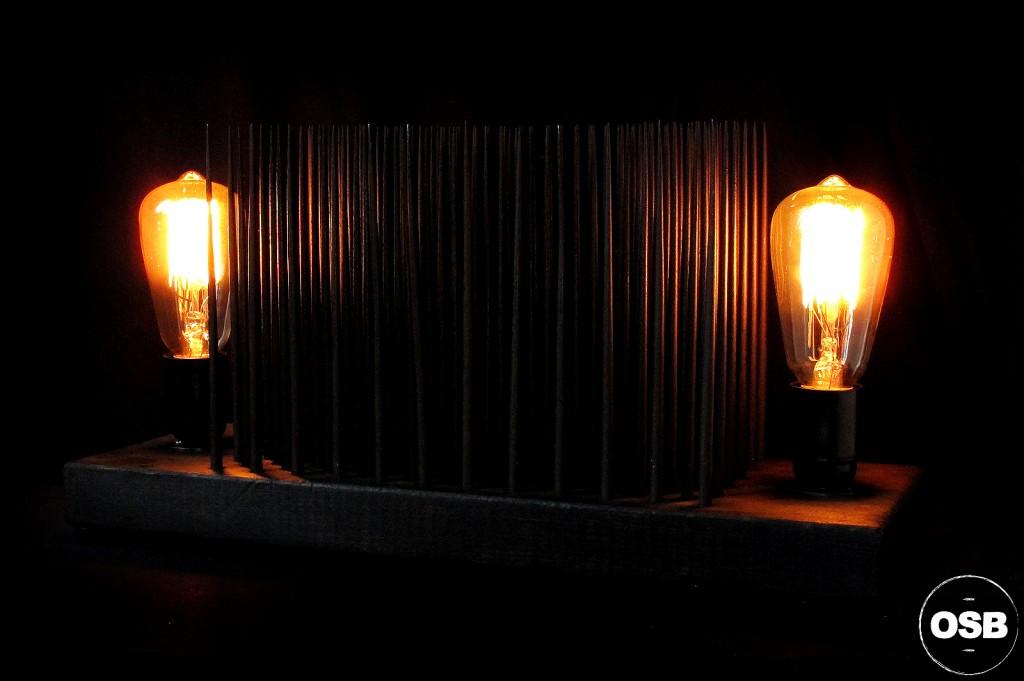 LAMPE TRACTOR CREATION LUMINAIRE UNIQUE OLD SCHOOL BAZAAR LAMPE STEAMPUNK INDUSTRIEL UNIQUE 10