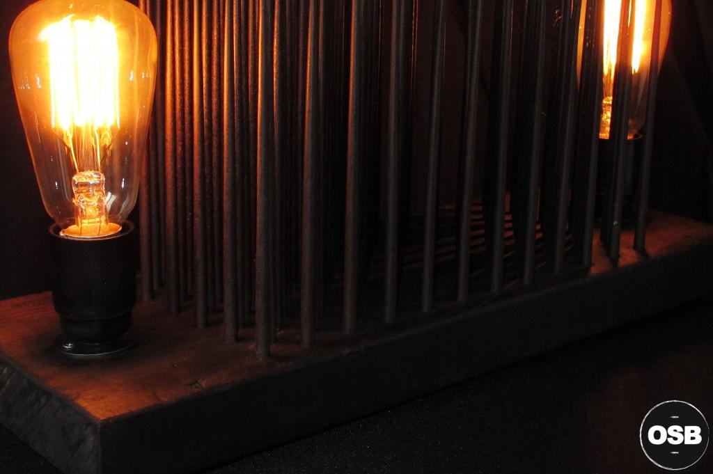 LAMPE TRACTOR CREATION LUMINAIRE UNIQUE OLD SCHOOL BAZAAR LAMPE STEAMPUNK INDUSTRIEL UNIQUE 6