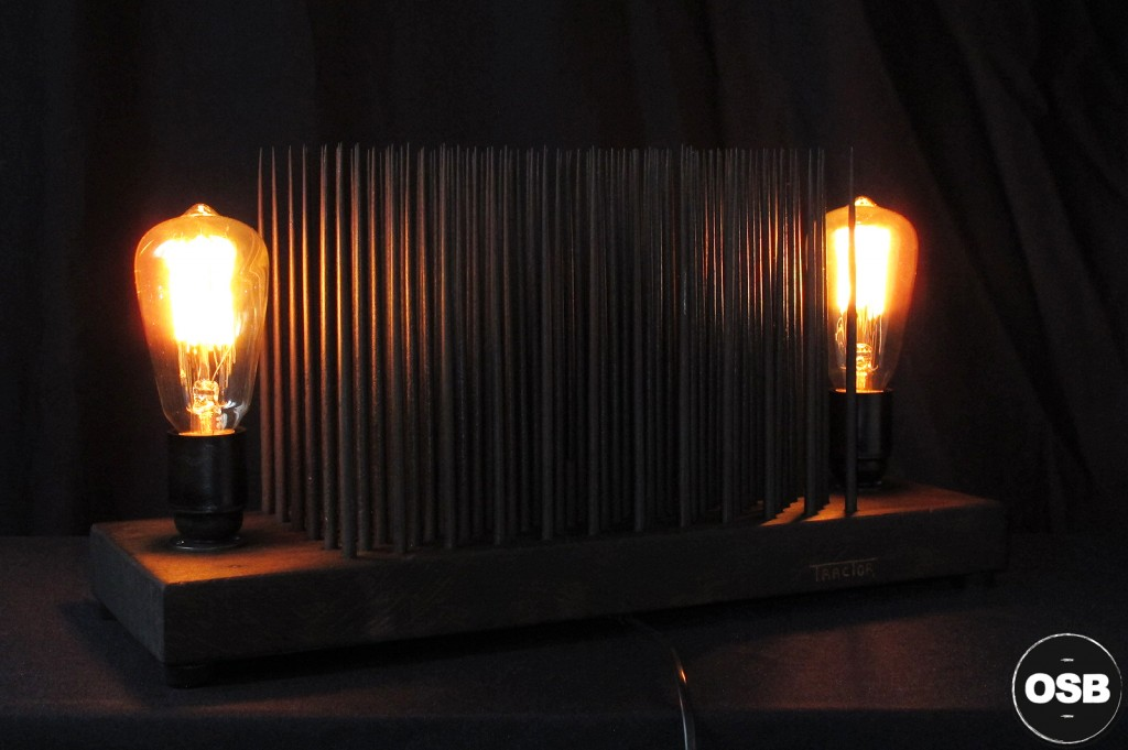 LAMPE TRACTOR CREATION LUMINAIRE UNIQUE OLD SCHOOL BAZAAR LAMPE STEAMPUNK INDUSTRIEL UNIQUE 8