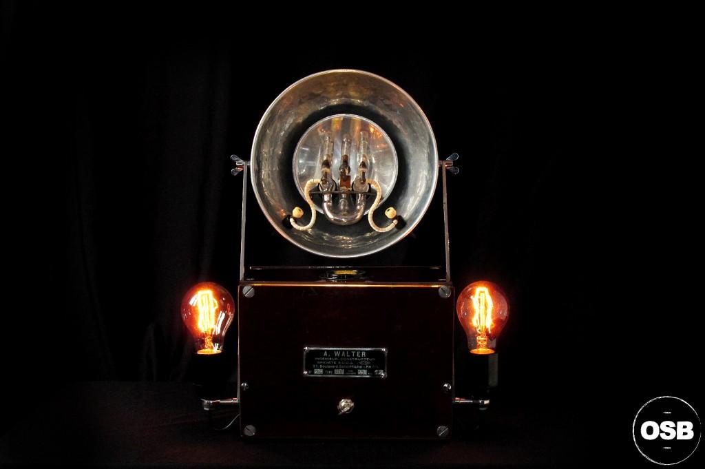 LAMPE TRACTOR CREATION OLD SCHOOL BAZAAR LUMINAIRE ANCIEN STEAMPUNK LOFT INDUS CABINET CURIOSITE VINTAGE LAMP 1