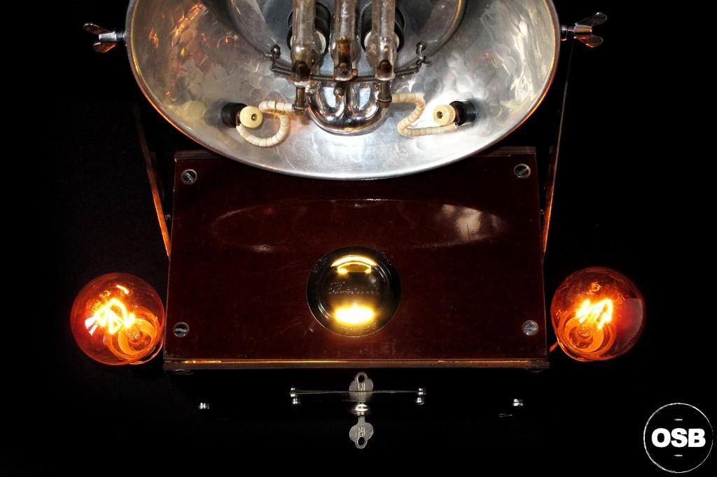 LAMPE TRACTOR CREATION OLD SCHOOL BAZAAR LUMINAIRE ANCIEN STEAMPUNK LOFT INDUS CABINET CURIOSITE VINTAGE LAMP 10