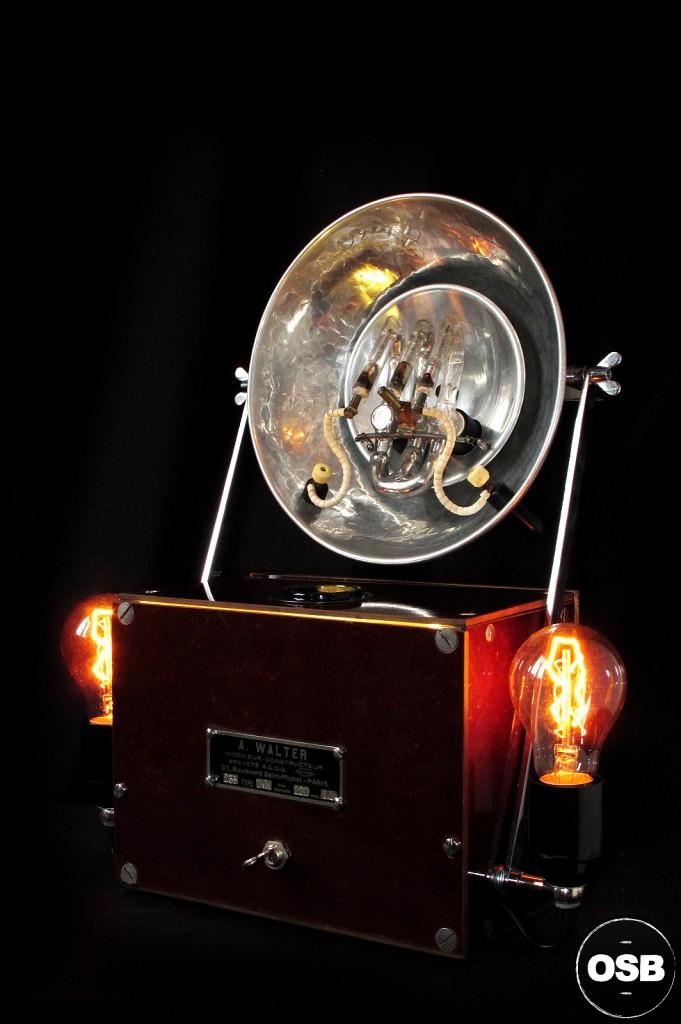 LAMPE TRACTOR CREATION OLD SCHOOL BAZAAR LUMINAIRE ANCIEN STEAMPUNK LOFT INDUS CABINET CURIOSITE VINTAGE LAMP 11
