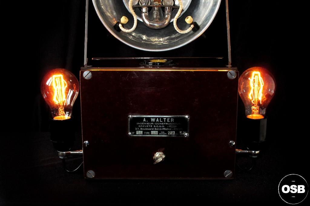 LAMPE TRACTOR CREATION OLD SCHOOL BAZAAR LUMINAIRE ANCIEN STEAMPUNK LOFT INDUS CABINET CURIOSITE VINTAGE LAMP 2