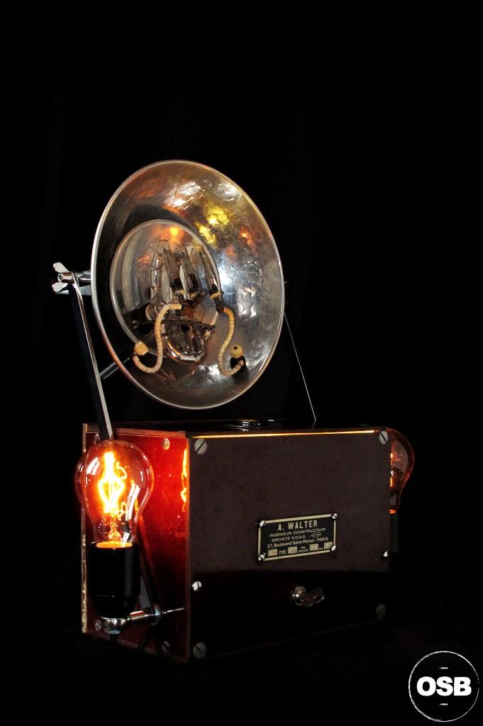 LAMPE TRACTOR CREATION OLD SCHOOL BAZAAR LUMINAIRE ANCIEN STEAMPUNK LOFT INDUS CABINET CURIOSITE VINTAGE LAMP 4