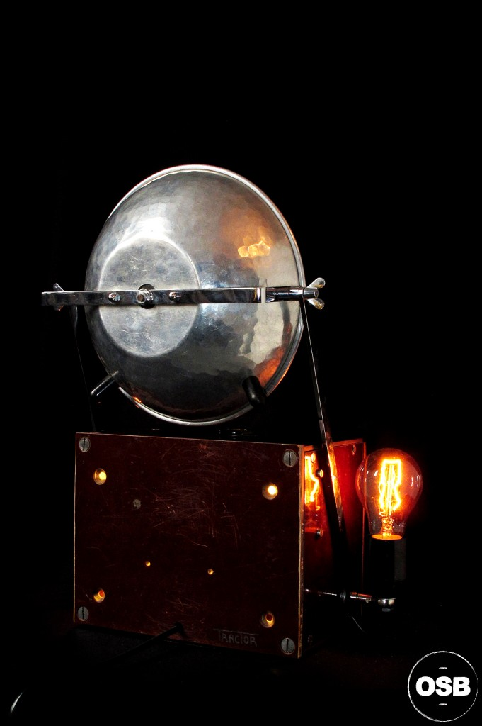 LAMPE TRACTOR CREATION OLD SCHOOL BAZAAR LUMINAIRE ANCIEN STEAMPUNK LOFT INDUS CABINET CURIOSITE VINTAGE LAMP 5