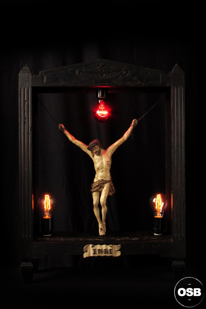 LAMPE TRACTOR LUMINAIRE UNIQUE RELIQUAIRE LUMINEUX LUMIERE ANCIEN OLD SCHOOL BAZAAR SIGNEE TRACTOR LAMP CURIOSITE 1