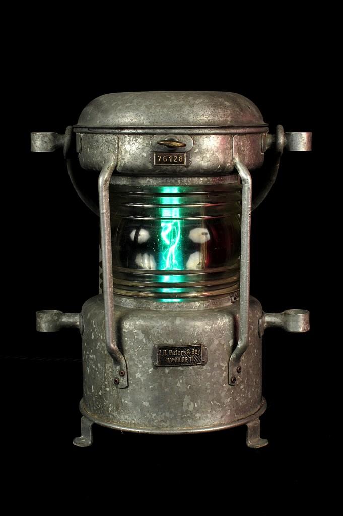 FANAL BATEAU ANCIEN ELECTRIFIEE LAMPE ORIGINAL LUMINAIRE ANCIEN OLD SCHOOL BAZAAR 1