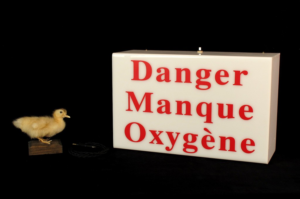 LAMPE LABORATOIRE DANGER MANQUE OXYGENE DECORATION LUMINAIRE ANCIEN OLD SCHOOL BAZAAR 5