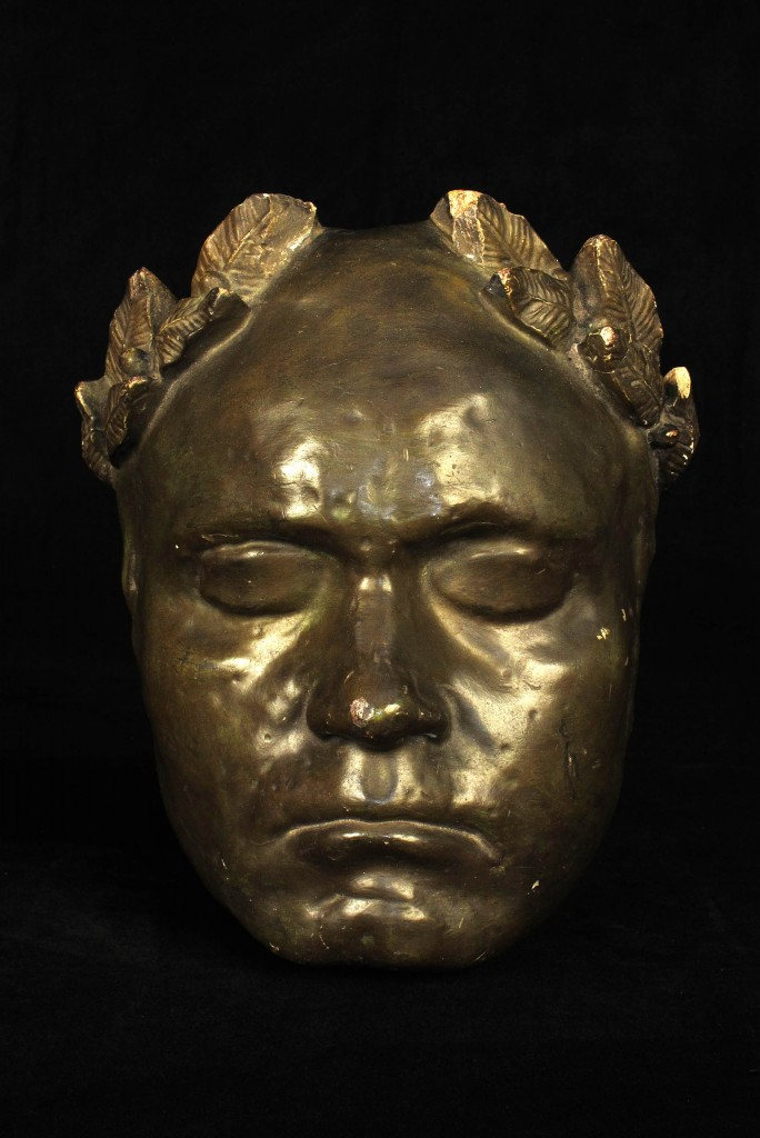 MASQUE MORTUAIRE BEETHOVEN ANCIEN 1920 1940 MORTUARY MASK OLD SCHOOL BAZAAR 1