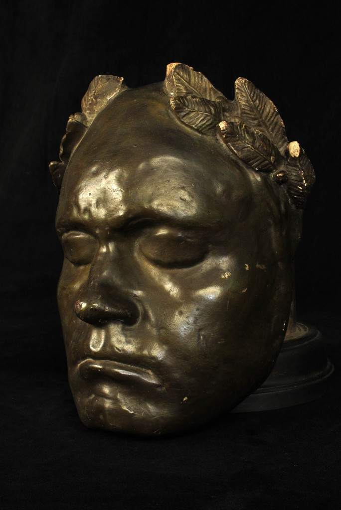 MASQUE MORTUAIRE BEETHOVEN ANCIEN 1920 1940 MORTUARY MASK OLD SCHOOL BAZAAR 2