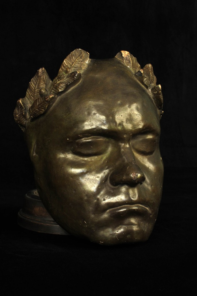 MASQUE MORTUAIRE BEETHOVEN ANCIEN 1920 1940 MORTUARY MASK OLD SCHOOL BAZAAR 3