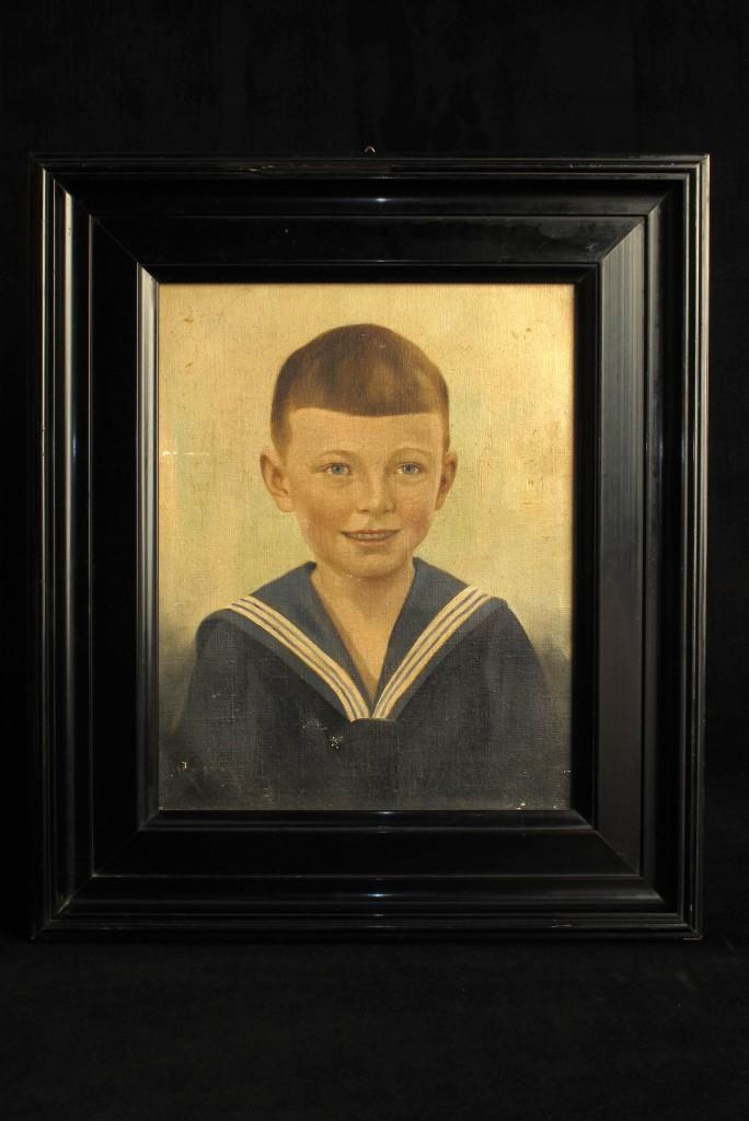 tableau-ancien-peinture-portrait-enfant-decoration-cabinet-curiosites-antiquites-decalees-old-school-bazaar-1