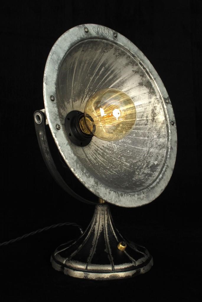 ANCIEN SPOT LAMPE CALOR METAL ESPRIT INDUSTRIEL LOFT LUMINAIRE VINTAGE OLD SCHOOL BAZAAR 1