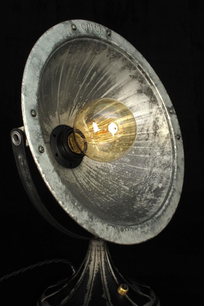 ANCIEN SPOT LAMPE CALOR METAL ESPRIT INDUSTRIEL LOFT LUMINAIRE VINTAGE OLD SCHOOL BAZAAR 2