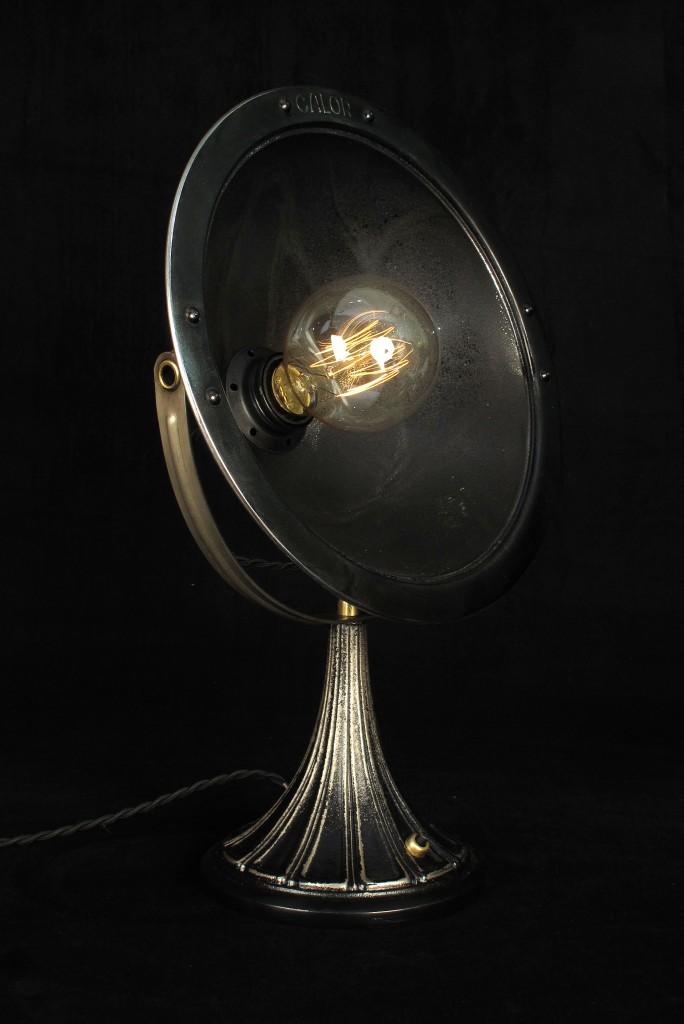 ANCIENNE LAMPE SPOT CALOR METAL PATINE DU TEMPS ESPRIT INDUSTRIEL LOFT LUMINAIRE VINTAGE OLD SCHOOL BAZAAR 1