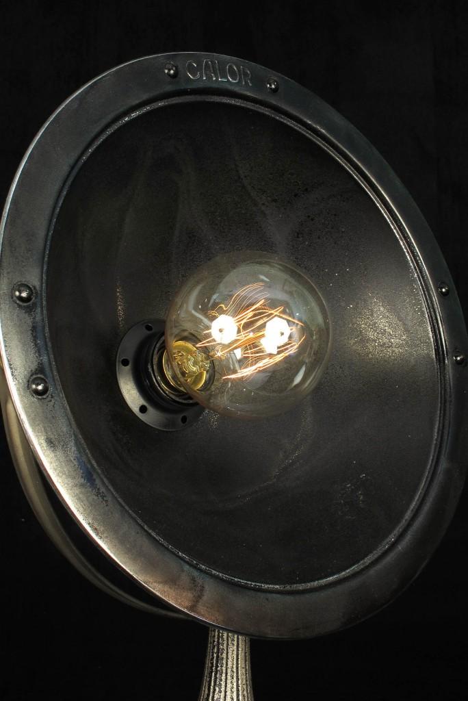 ANCIENNE LAMPE SPOT CALOR METAL PATINE DU TEMPS ESPRIT INDUSTRIEL LOFT LUMINAIRE VINTAGE OLD SCHOOL BAZAAR 2