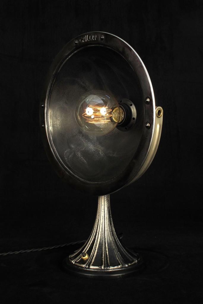 ANCIENNE LAMPE SPOT CALOR METAL PATINE DU TEMPS ESPRIT INDUSTRIEL LOFT LUMINAIRE VINTAGE OLD SCHOOL BAZAAR 5