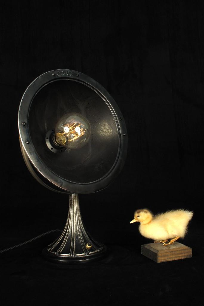 ANCIENNE LAMPE SPOT CALOR METAL PATINE DU TEMPS ESPRIT INDUSTRIEL LOFT LUMINAIRE VINTAGE OLD SCHOOL BAZAAR 7