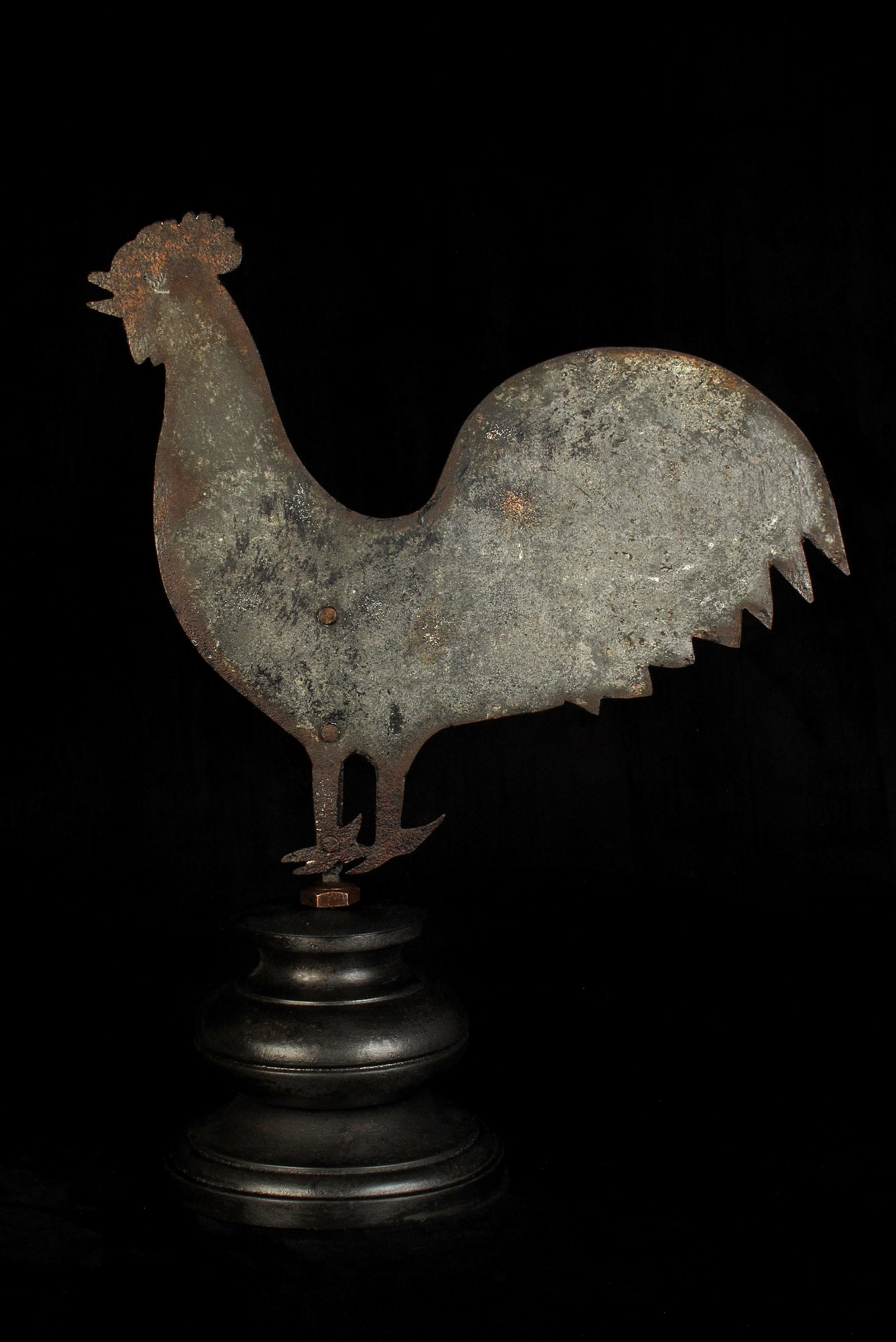 Girouette Ancienne Coq Decoration Antiquites Decalees Old School