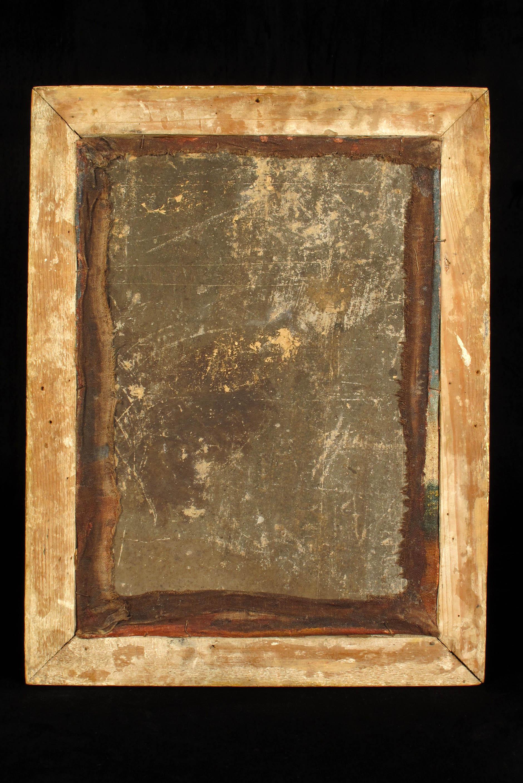 Ancienne peinture l huile cole de cuzco vers 1800 old school bazaar for Peinture a l ancienne