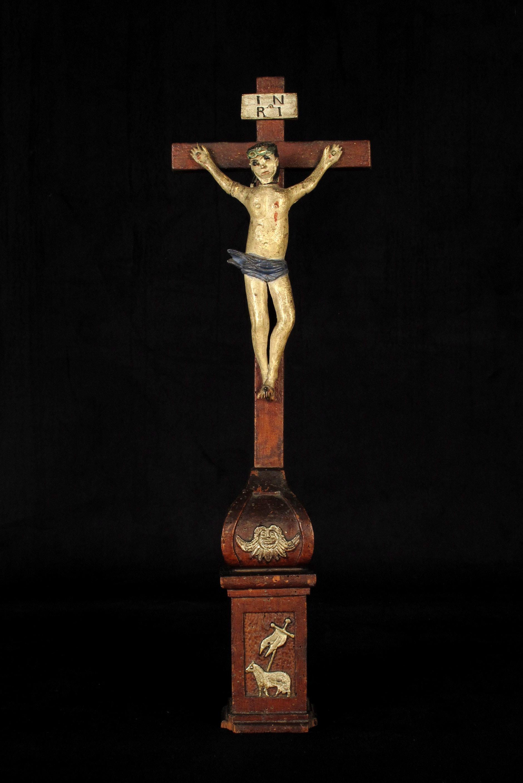 Int ressant christ sur croix vers 1850 old school bazaar for Arts populaires