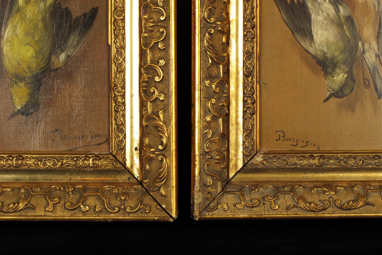 int ressante paire de peintures l huile sur bois vers 1880 old school bazaar. Black Bedroom Furniture Sets. Home Design Ideas