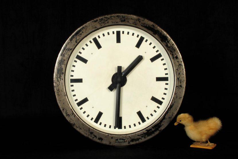 rare ancienne horloge de gare allemande anders vers 1930 old school bazaar. Black Bedroom Furniture Sets. Home Design Ideas